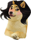 Doge Girl With Black Hair
