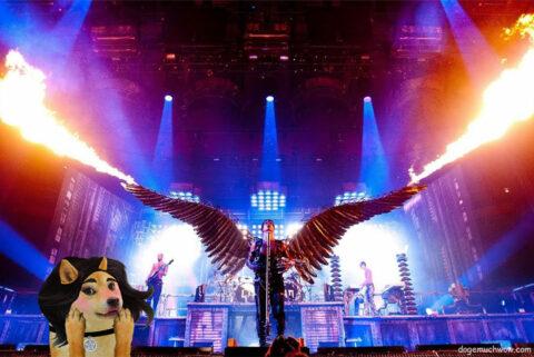 Dogetta at fiery Rammstein gig. Such contert. Much wow. Wow.
