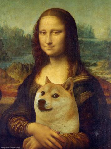 Mona Lisa with Doge. Much beatiful. Very eye contact. Wow.